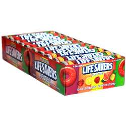 Box of Lifesavers 4 Flavor Candy Rolls