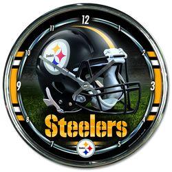 Pittsburgh Steelers Chrome Plated Clock