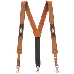 Apache Western All-Leather Western Suspenders