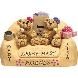 Personalized Beary Best Friend Loveseat