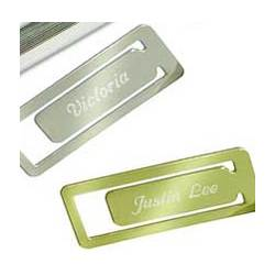 Personalized Rectangular Metal Bookmark