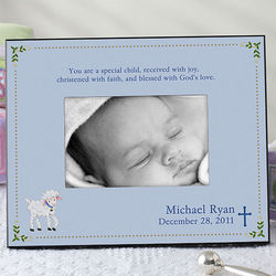 Christened with Faith Personalized Frame