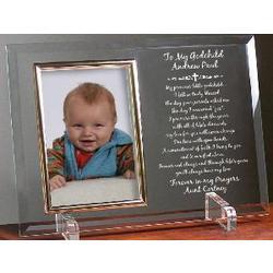 To My/Our Godchild Glass Poem Frame