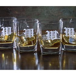 Personalized Franklin Four Rock Glass Set