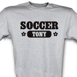 Soccer Fan Personalized Sports T-Shirt