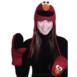 Elmo Knitwits Hat or Mittens