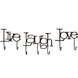 Live Love Laugh Inspires Wall Hook Set