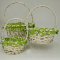 Personalized Green Blossoms Small Easter Basket