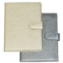Brag Book Metallic Goatskin Leather
