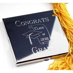 Engravable Graduation Cap Purse Compact