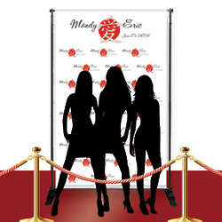 Custom Red Carpet Chinese Love Character Banner
