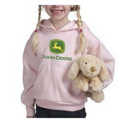 John Deere Youth Pink Hoodie