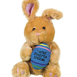 Plush You're Eggstra Special Brown Bunny