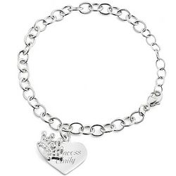 Girl's Sterling Tiara Bracelet