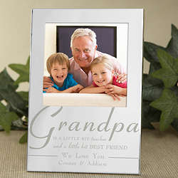 For My Grandpa Personalized Silver Picture Frame