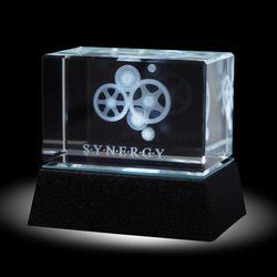 Synergy Gears 3D Crystal Award