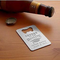 Personalized Graduation Wallet Bottle Opener