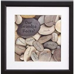 Personalized Love Rocks Framed Print