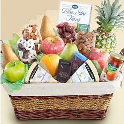 Ultimate Organic Fruit and Snack Gift Basket