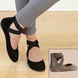 Leather Arabesque Ballet Flats