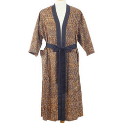 Men's Copper Puzzle Cotton Batik Robe