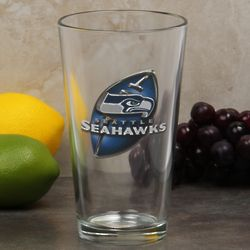 Seattle Seahawks 3D Enhanced 17 Ounce Mixing Glass