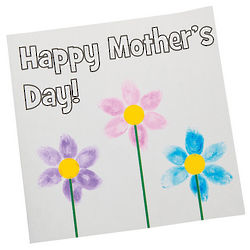 Thumbprint Mother's Day Card Craft Kit