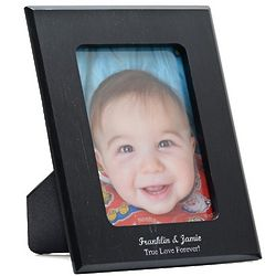 Personalized Black Marble Photo Frame