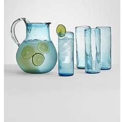 Rossana Recycled Pitcher and Glassware Set