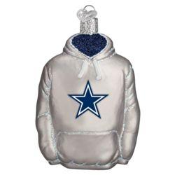 Dallas Cowboys Hand Blown Glass Hoodie Ornament