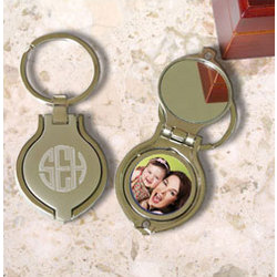 Personalized Key Chain with Mirror & Picture Frame