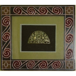 St. Patricks Bell Shrine in a Celtic Carved Frame