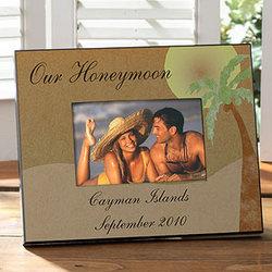 Personalized Honeymoon Photo Frame