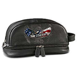 Ride Hard, Live Free Leather Travel Bag