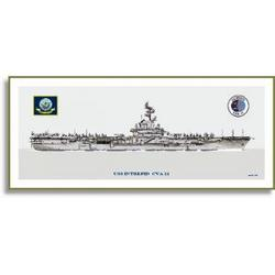 USS Intrepid CVA-11 1950's Config Art Print