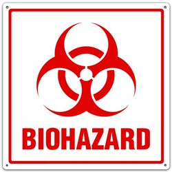 Metal Biohazard Utility Sign