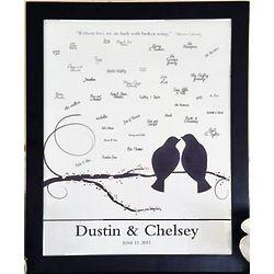 Lovebirds Signature Framed Canvas