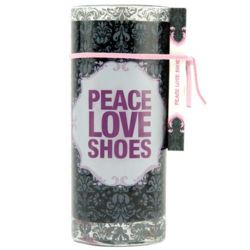 Peace, Love, Shoes Juice Glass Candle