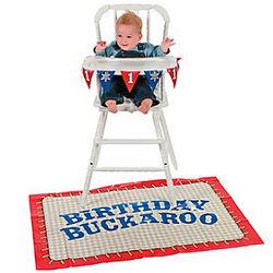 First Birthday Cowboy High Chair Set