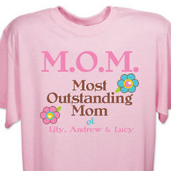 Personalized Outstanding Mom T-Shirt