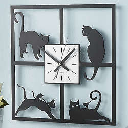 Picture Purrfect Cat Wall Clock
