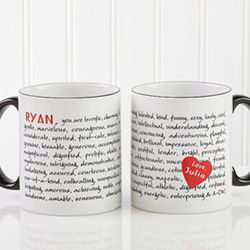Reasons To Love You Personalized Large Coffee Mug