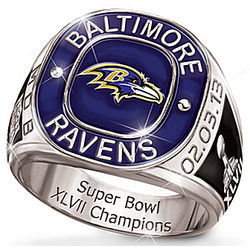 Men's Personalized Baltimore Ravens Champions Commemorative Ring