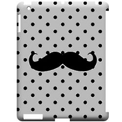 Stache Black Polka Dot iPad Case