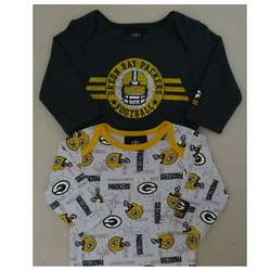 Packers Newborn And Infant Long Sleeve Bodysuits