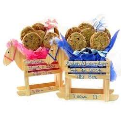 Baby Boy or Girl Rocking Horse Gourmet Cookie Bouquet