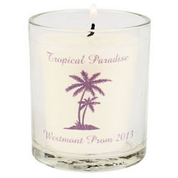 Personalized Luau Votive Candle Holder