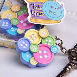 Little Buttons Collection Key Chain Favor