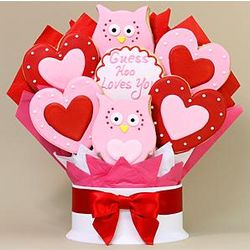 Hoo Loves You 7-Piece Cookie Bouquet