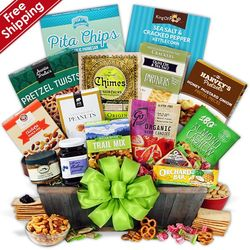 Healthy Snacks and Treats Christmas Gift Basket